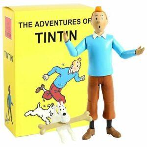 Figurine-de-collection-ARTICULEE-Tintin-et-Milou-17-5CM-HERGE-NEUVE