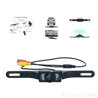 Vehicle Backup Camera Waterproof Hd Wide Angle View License Plate Car Rear