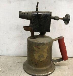 Vintage-Brass-Blow-Torch-Industrial-Steampunk-Man-Cave