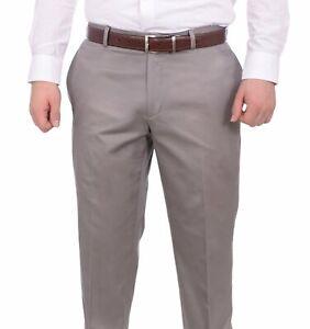 Bar-Iii-Slim-Fit-Solid-Light-Gray-Flat-Front-Cotton-Dress-Pants