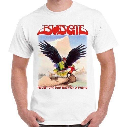 Budgie mai voltare le spalle a un amico 73 NWOBHM Iron Maiden Retro T Shirt 64