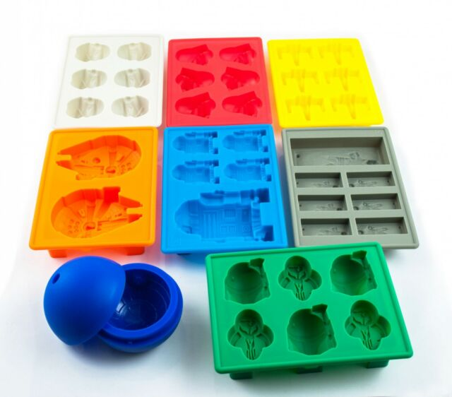 Star Wars Ice Tray Silicone Mold Ice Cube Tray Chocolate R2D2 Hans Solo Falco