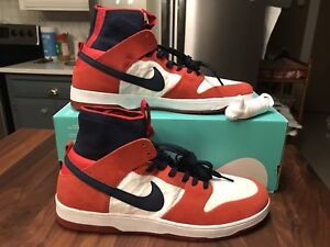 best sneakers ac78c 5932e Details about Nike SB Zoom Dunk High Elite Size 13 Red / Navy 917567 641  NIB!! FREE SHIPPING!!