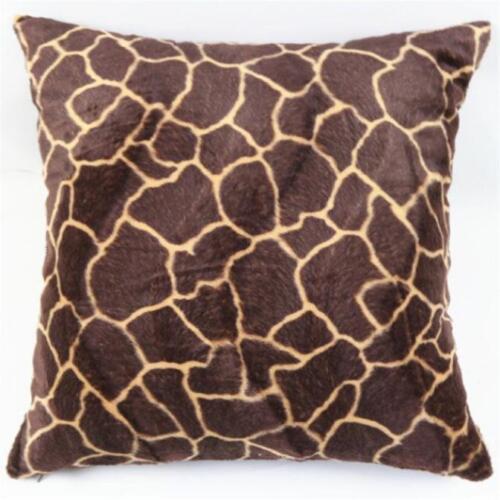 Sofa Waist Throw Cushion Cover Animal Zebra Leopard Print Pillow Case Home Decor