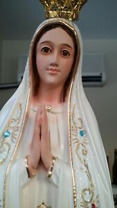 26-034-Our-Lady-Of-Fatima-Statue-Virgin-Mary-Beautiful-Glass-eyes-from-Portugal