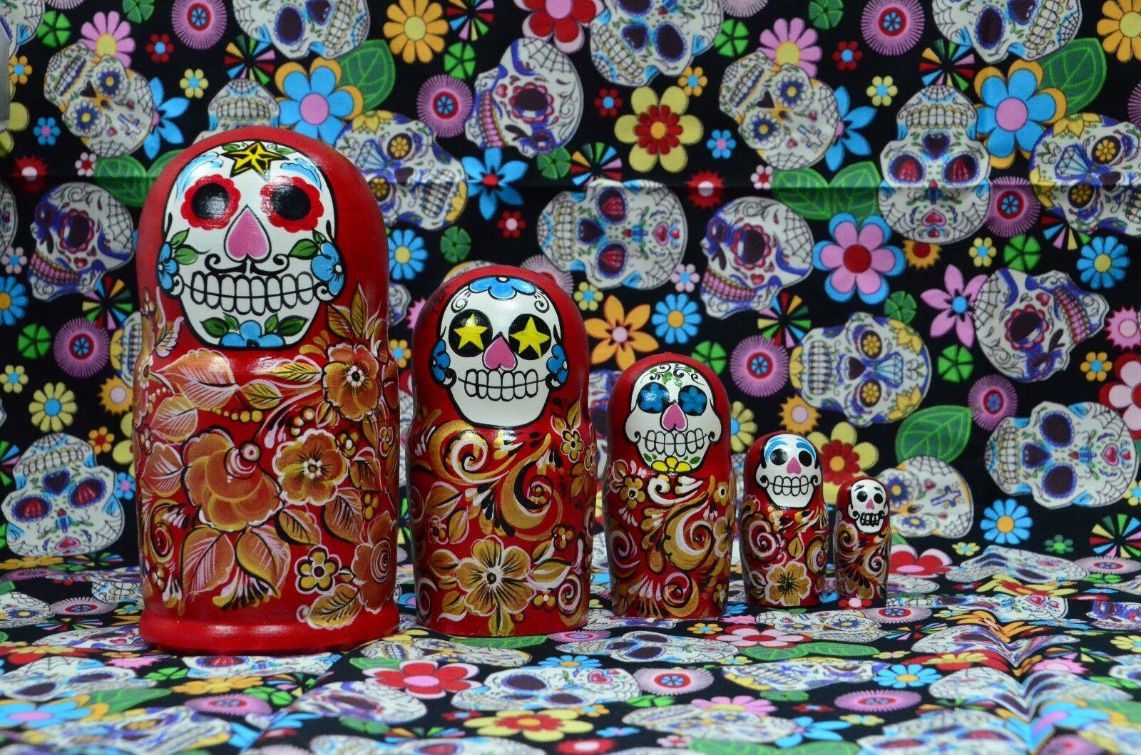 nuovo Russian Matryoshka bambola nesting  bambolas, Mexican,  Skull, hefatto  ti aspetto