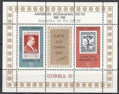 Offizielle Website Türkei Block 20 Postfrisch 100 Geburstag Atatürk Briefmarkenausst Balkanfila Attraktive Designs;