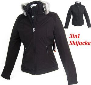 Schwarz 3in1 Damen Optik 44 Skijacke Icepeak Supertrendige Gr 38 Neu PRxaWqz