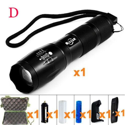 50000LM XML-T6 LED Torch Zoomable Tactical Flashlight Camping Lamp Light Lantern