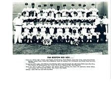 1964 BOSTON RED SOX TEAM  8X10 PHOTO YASTRZEMSKI PESKY  BASEBALL FENWAY