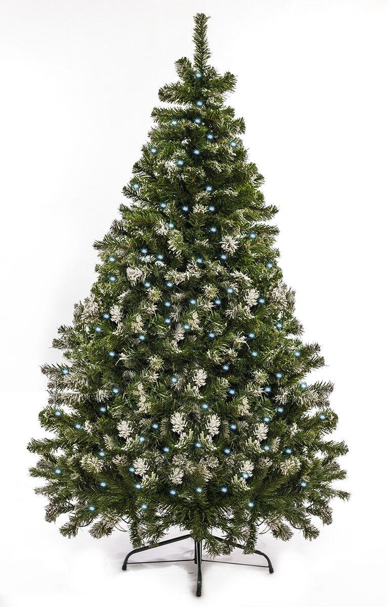 Weihnachtsbaum künstlich LED mit Schnee 180cm 180cm 180cm künstlicher Tannenbaum Christbaum   Diversified In Packaging  6ccdbd