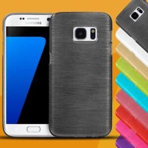 Handy-Huelle-Samsung-Galaxy-Case-Schutz-Cover-brushed-Tasche-Silikon