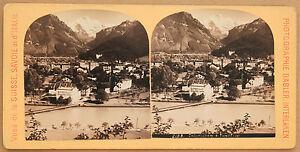 Interlaken Svizzera Stereo Gabler Vintage Albumina Ca 1885