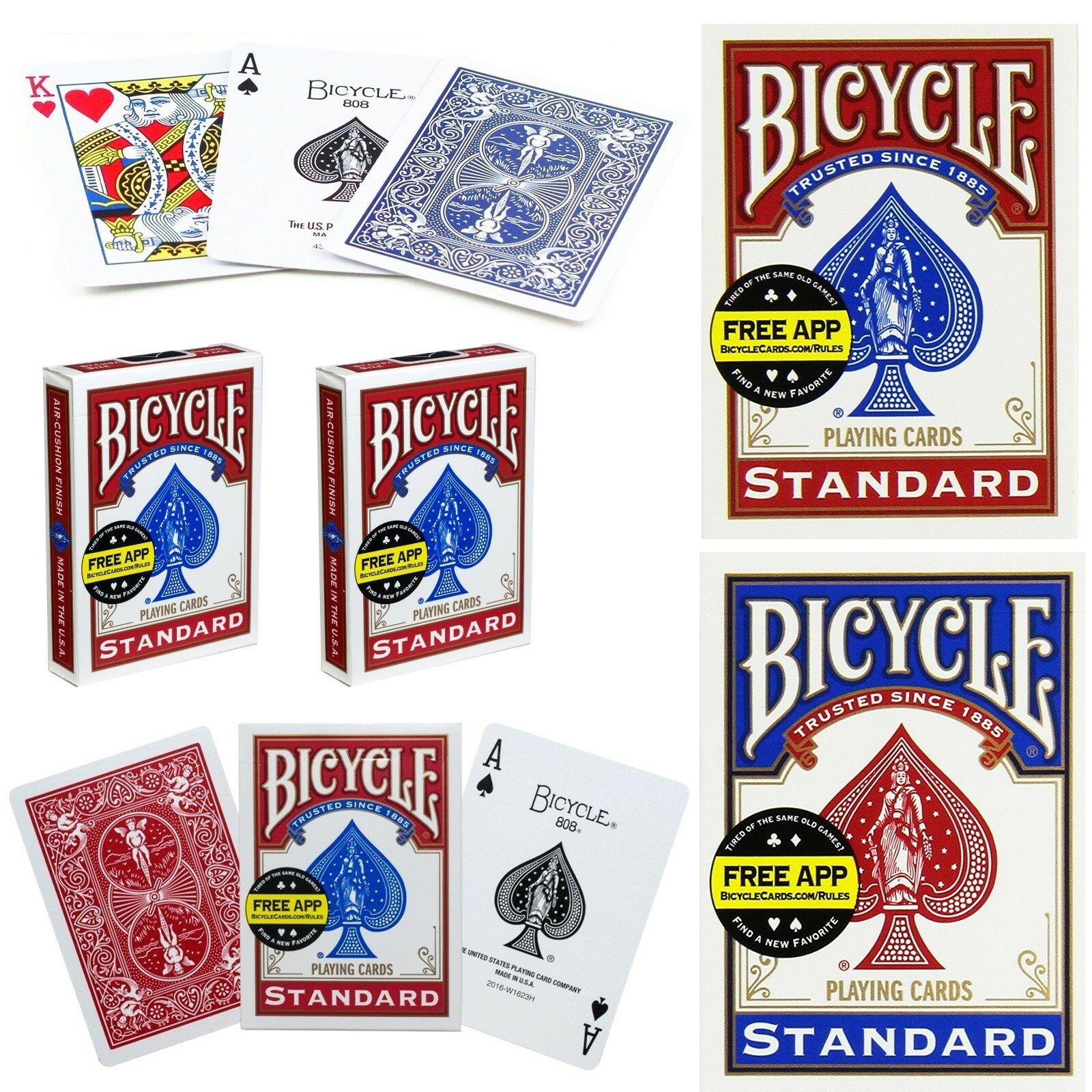 Bicycle Playing Cards Poker Casino Magic Decks Tricks Games Casino Bridge rot BL