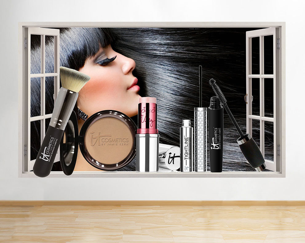 M807 Make-Up Beauty Face Girl Spa Window Wall Decal 3D Art Stickers Vinyl Room
