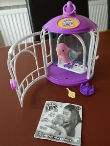 Little-Live-Pets-Secret-Songbird-039-Loyal-Lulu-039-with-a-key-and-purple-cage