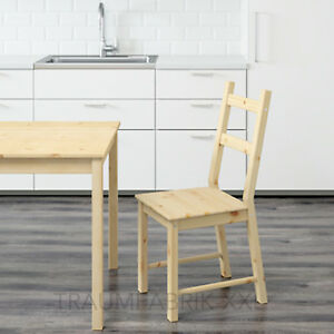 Detalles de IKEA SILLA DE COCINA Madera Macizo Pino Sin Tratar NUEVO Y EMB.  orig.