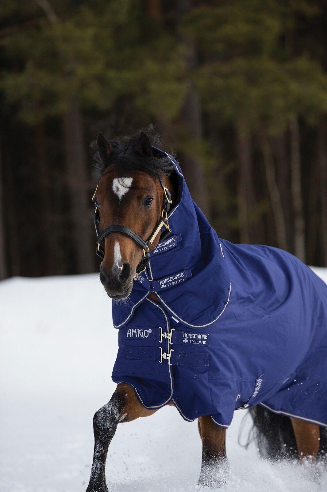 Horseware Amigo Hero Acy Plus 200g participación Alfombra mediumweight Cuello Desmontable