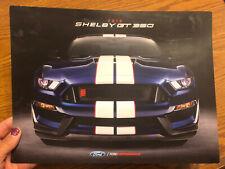 2018 Shelby Mustang GT350 GT-350 GT350R Ford Original Car Sales Brochure Folder
