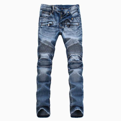 Nuovo 2019 Drape 30 Classic Moto ginocchio Biker Men q Hi Jeans Taglia Panel 38 5YSOw6
