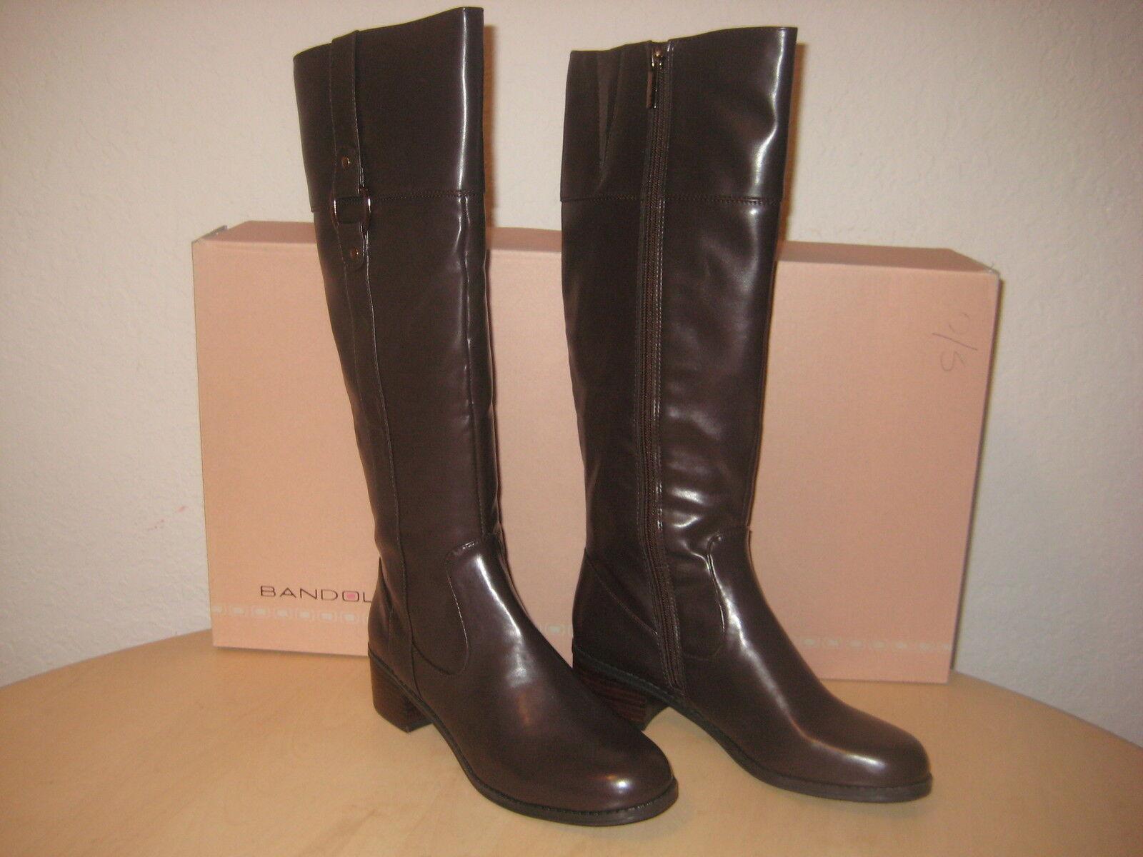 Bandolino Schuhes Größe 6 M Damenschuhe NEU Chosen Dark Braun Riding Knee High Stiefel