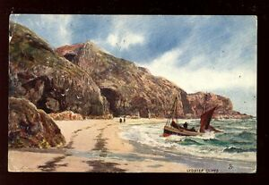 Wales-Pembrokeshire-Lydstep-artist-F-W-Hayes-Tuck-Oilette-7130-PPC-used-1906