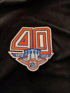 Edmonton Oilers 40th Anniversary Patch