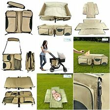 3-1 Diaper Bag Travel Bassinet Baby Changing Station Bed Portable Crib Baby and
