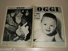 OGGI=1960/16=SAUL STEINBERG=MAX DAVID=ALIKI VOUGIOUKLAKI=JEANNE VALERIE=MACARIO=