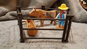 Fer à marquer le bétail  pour les cow boys du ranch PLAYMOBIL Western