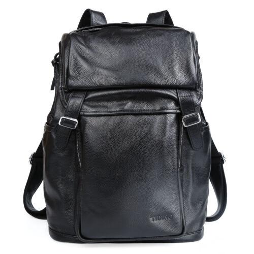 TIDING Korean Style Men/'s Women String Backpack Rucksack Leather Shoulder Bag