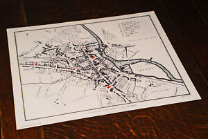 Map of Derby England 1817 Published by Cadell & Davies, by Mutlow ...