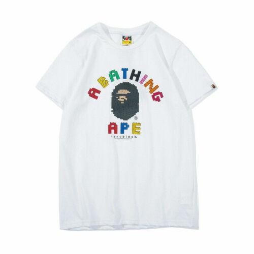 2019 Summer Bape A Bathing Ape Money Head Men/'s T-shirt Tee Short Sleeve Teens