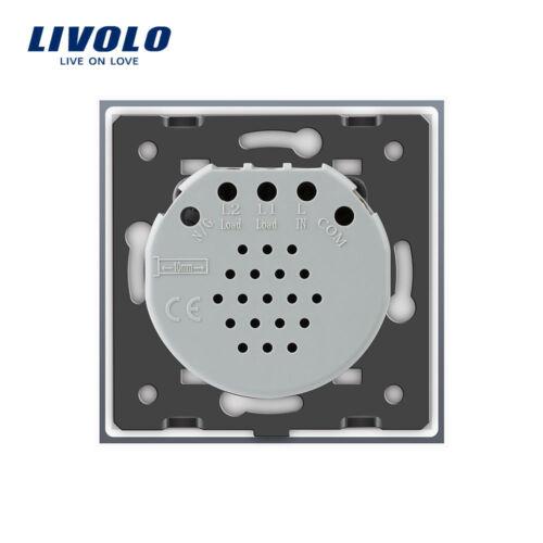 Livolo Glas Touch Lichtschalter mit LED Anzeige Schalter in Weiss//Schwarz//Grau