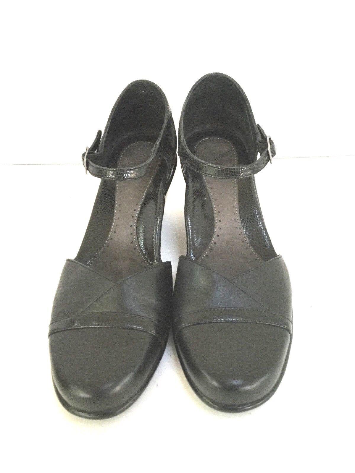 Dansko 38 Black Ankle Strap Mary Jane Shoes