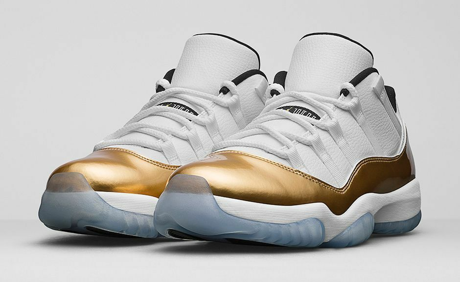 Air Jordan Retro 11 XI Low Closing Ceremony Metallic Gold Bred 528895-103 Snake