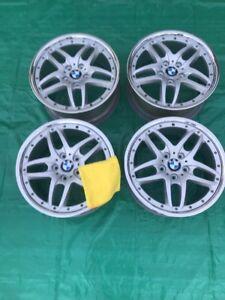 Oem Bmw Wheels >> Bmw Style 71 Wheels Staggered 18 Oem Bmw Wheels Free Fiber Cloth Ebay