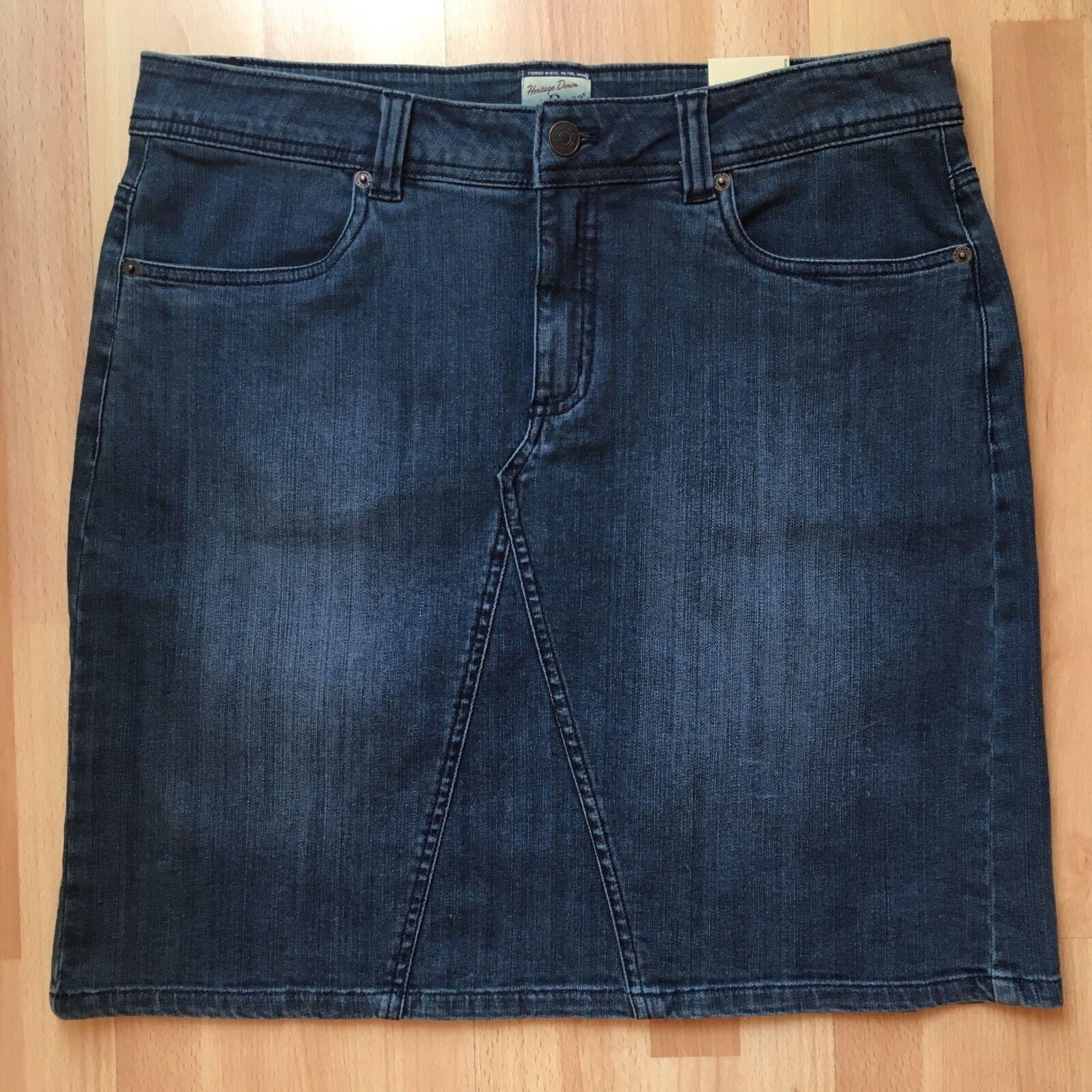 GH Bass Womens Size 12 Dark Antique Denim Jean Skirt