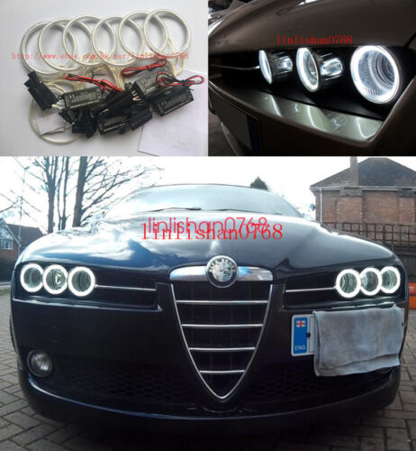 6pcs Excellent CCFL 7000K Angel Eyes kit Halo ring For Alfa Romeo 159 2005-2011