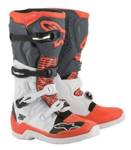 Alpinestars-Tech5-Motocross-Boots-MX-Size-White-Grey-Red