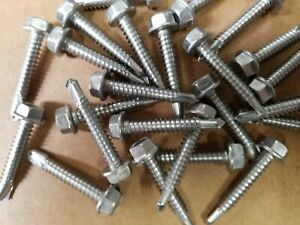 "410 Hardened Stainless Steel Self-Drilling HWH #3 Point #10 x 5//8/"" Tek Screws"