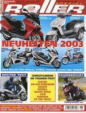 Roller Spezial 6 2002 Yamaha XP500 TMax Vespa ET4 125 CPI Hussar Piaggio Beverly