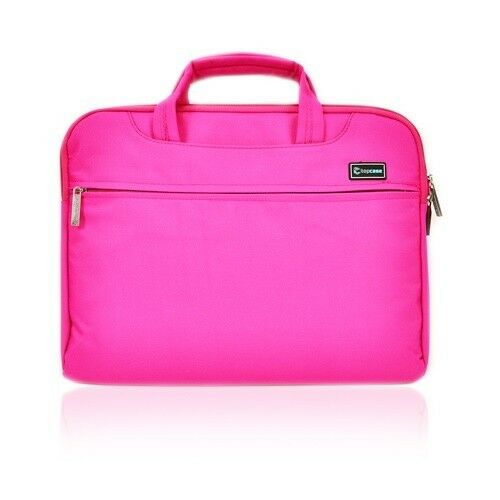 """Pink Nylon Lycra Fabric Sleeve Bag Briefcase for All 15/"""" Laptops Macbook Pro"""