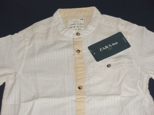 NEW 2,3,4,9,11 /& 13 YEARS SIZES CREAM Zara Boys Shirt