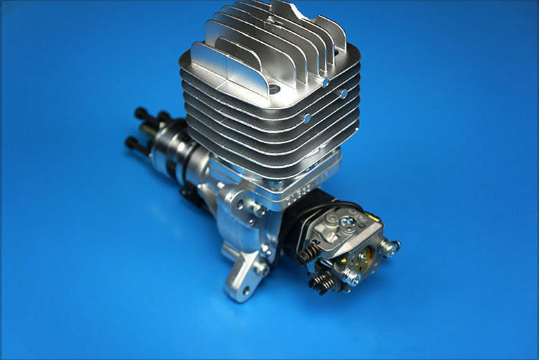 Aircraft Gasoline Engine 55CC DLE55 Single Cylinder Two Stroke Side Exhaust