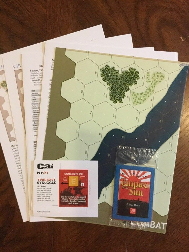 NEW, GMT C3i Combat Commander cover, w w w  all inserts, Empire of Sun cards 62bba6