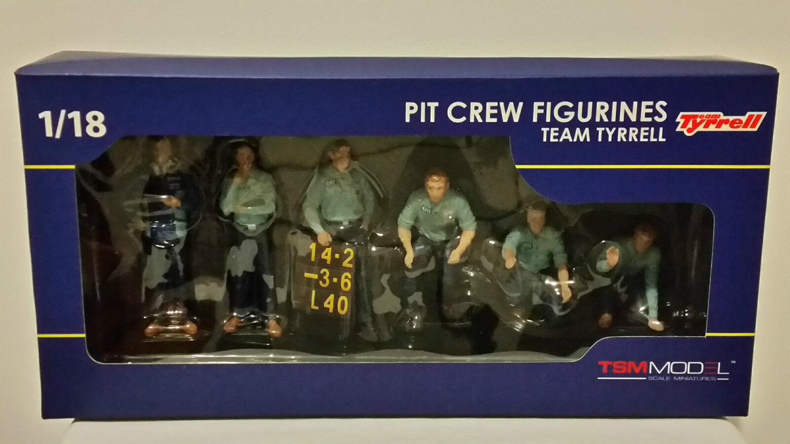 True Scale Miniatures TSM12AC12 - 1 18 Scale Tyrrell Pit Crew Set