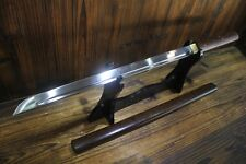 Japanese Full Tang Hand Forged Rosewood Wakizashi Ninjato Chokuto Samurai Sword