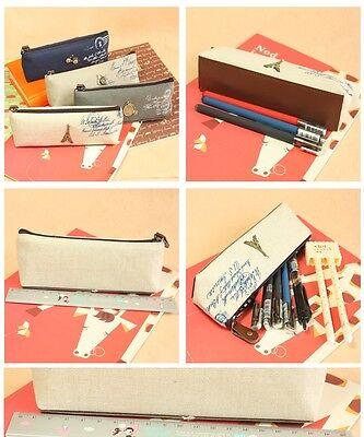 Kosmetiktasche Nostalgie klein Stiftetasche Make Up Tasche Paris Kulturbeutel