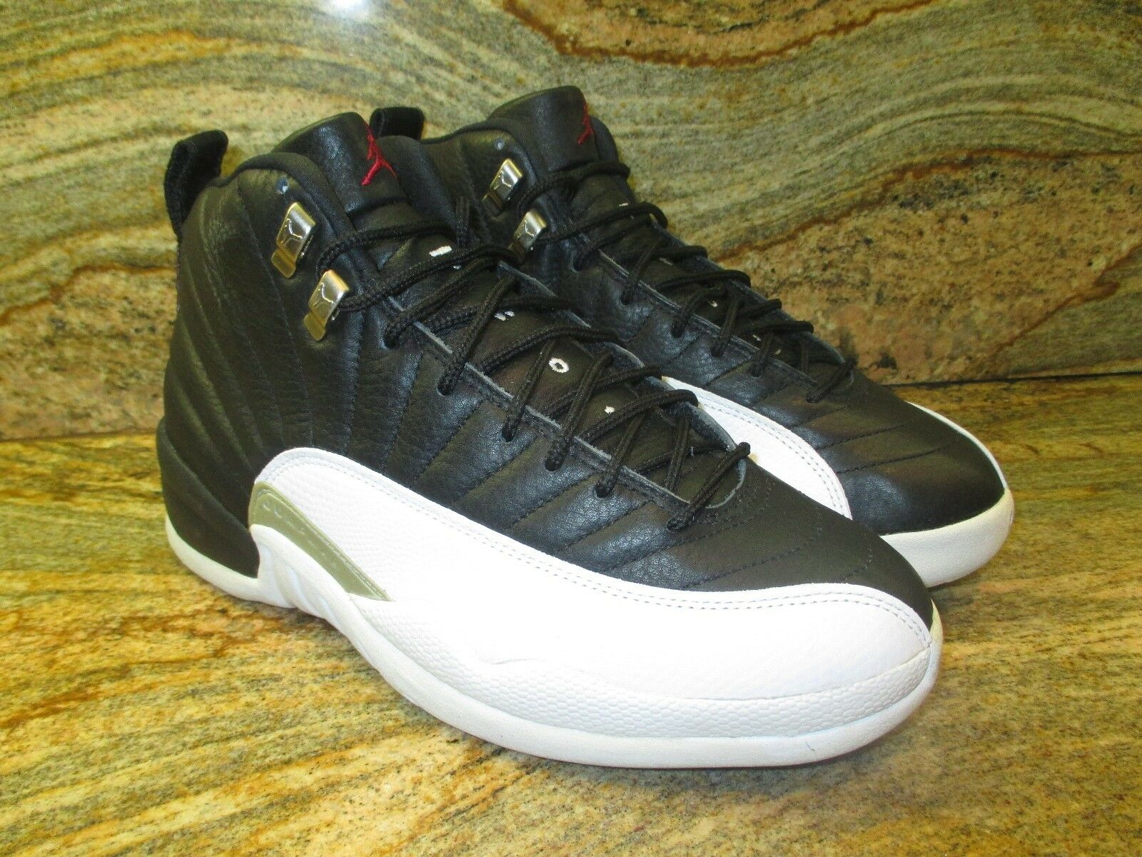 1997 Nike Air Jordan XII 12 OG Sample SZ 9 White Black Playoffs Taxi 136001-061